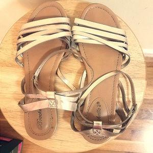 Breckelle Gold Strappy Sandals